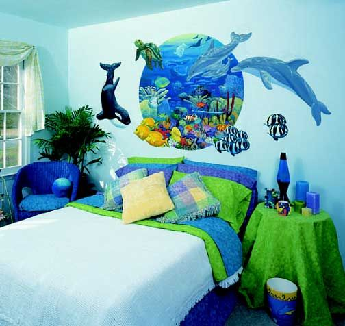 45 best kids decoration ideas images on pinterest child for Under the sea bedroom designs