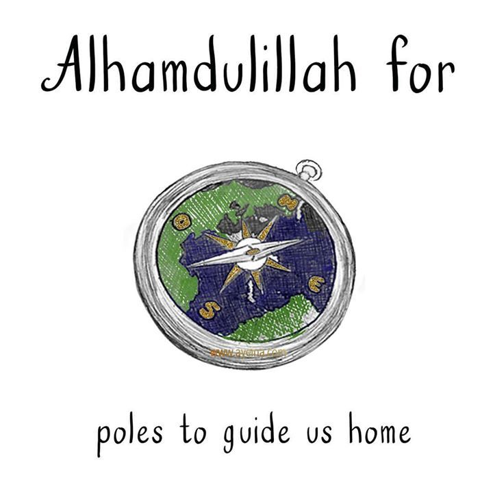 142: Alhamdulillah for poles to guide us home.  #AlhamdulillahForSeries  The exact geographical coordinates for the Kaaba are 212521.15N 394934.1E.