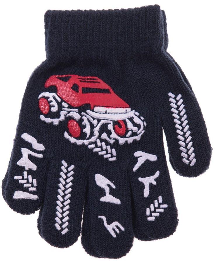 ΑΖ παιδικά γάντια πλεκτά «Red Car» Κωδικός: 18101  €2,00