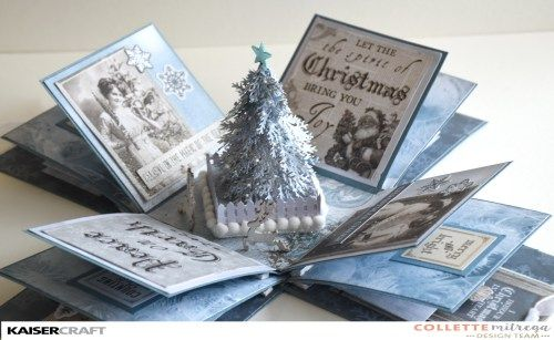Layered Box Card with Christmas Tree - includes video instructions