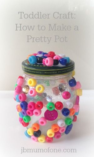 Toddler Craft: How to make a pretty pot