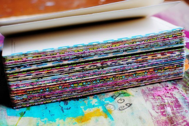 washi tape on the edges of journal pages