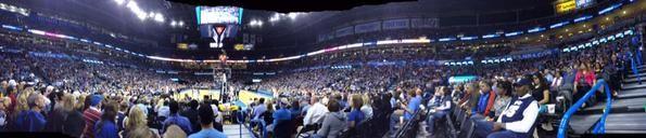 Oklahoma City Thunder basketball game at Chesapeake Energy Arena in Oklahoma City, Oklahoma.