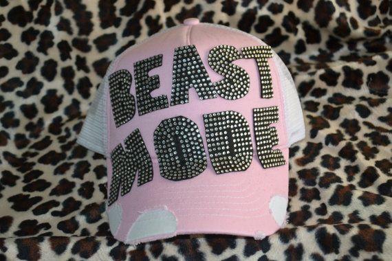 Beast mode rhinestone #beastmode-trucker-bling-hat