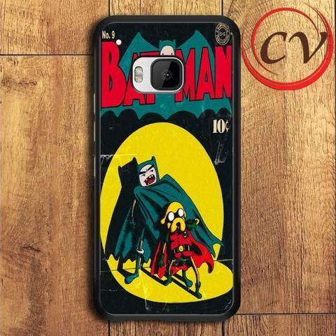 Adventure Time Batman HTC One M9 Black Case