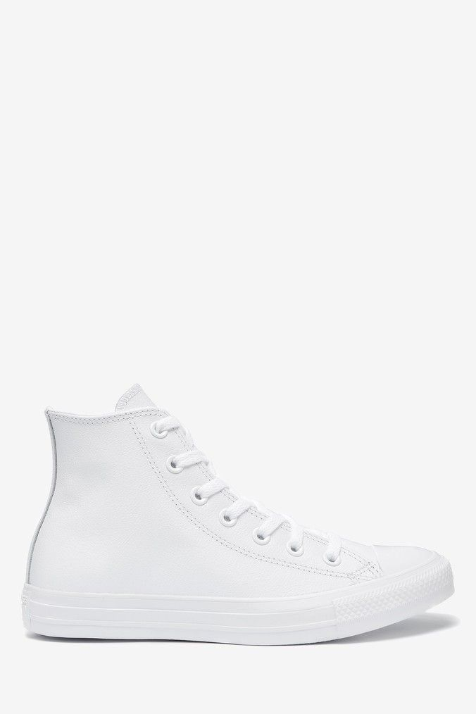 next leather trainers
