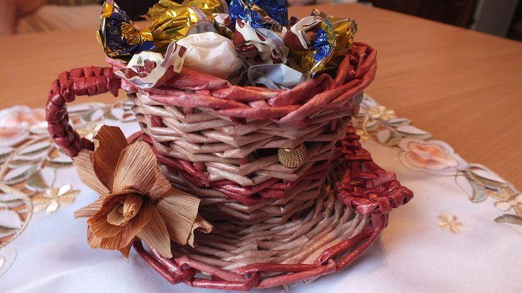 Плетение из газет Чашка