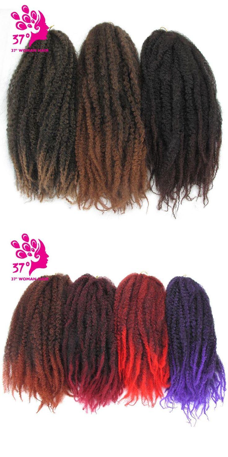 Dream Diana Kinky Curly Synthetic Twist Braiding Hair Afro Twist Crochet Braid Hair 100g 18 inch Royal Silk
