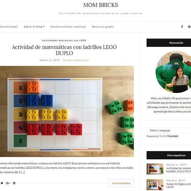 Los invito a que visiten mi blog de educación: www.mombricks.com. Es un blog que he desarrollado con mucho entusiasmo y cuyos recursos están inspirados en las actividades con ladrillos LEGO que realizo con mis hijos. Todos los recursos son gratis y pueden imprimirse al instante. Mi meta con este blog es ayudar a otros padres y maestros a hacer del aprendizaje de sus niños uno divertido y significativo. 👉Si visitas mi blog, déjame saber tu feedback.... y muchas gracias por apoyar esta…