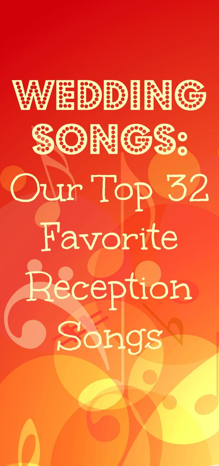 The best reception songs, and they're categorized by genre, which is super helpful! Love these for background tunes!