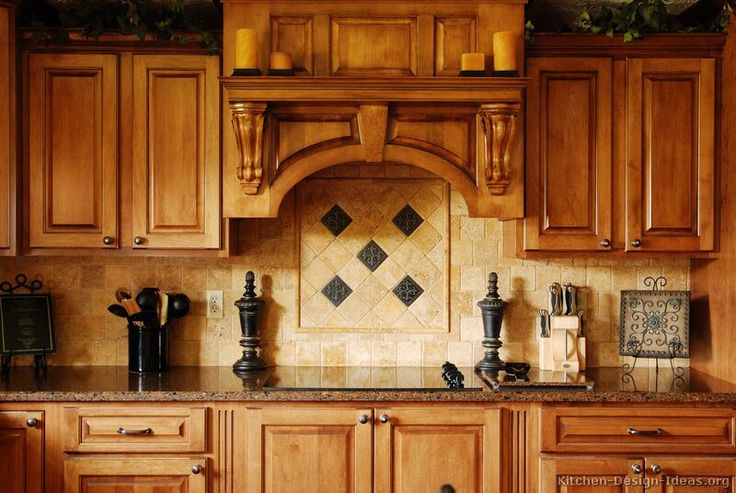 #Kitchen Idea of the Day: Range Backsplash Ideas: Breaking up the tile pattern behind the range is a great way to add interest and a focal point to the room. More Backsplash Ideas.