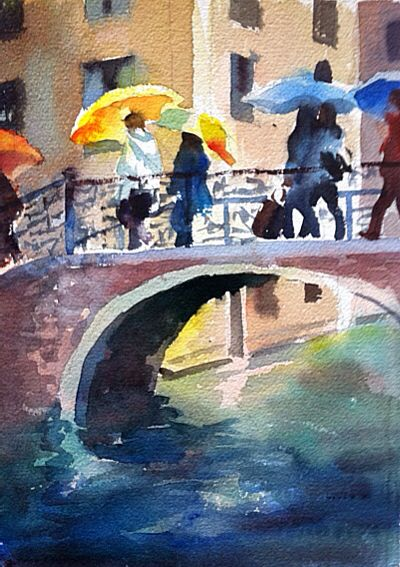 Venetian Umbrellas, Trevor Waugh
