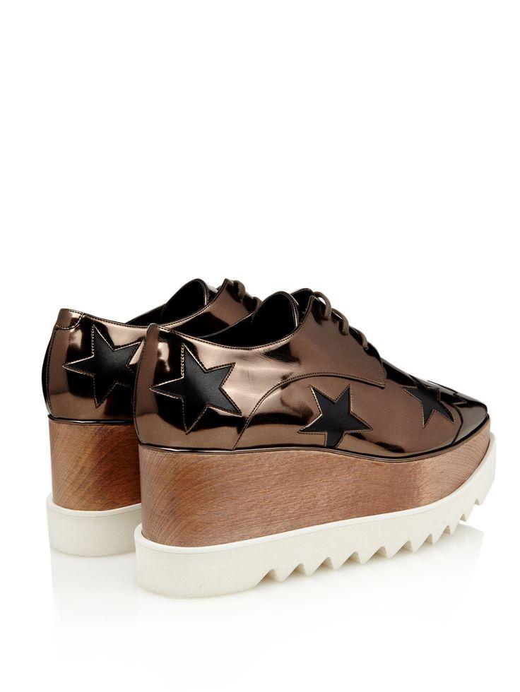 Elyse metallic lace-up platform shoes | Stella McCartney | MATCHESFASHION.COM UK