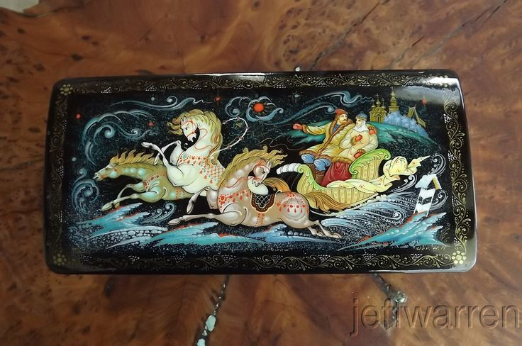 Vintage Russian Hand Painted Lacquer Box Signed | eBay
