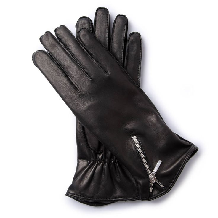 R.S.255 TWOWHEELER COLLECTION Gloves created as a tribute to the legendary BMW RS255 racing motorcycle from 1938. Originally designed for speed and adventure lovers, today they are equally suited to social occasions. The slim cut, high-quality black leather and slanted zip recall the classic appearance of these legendary machines.