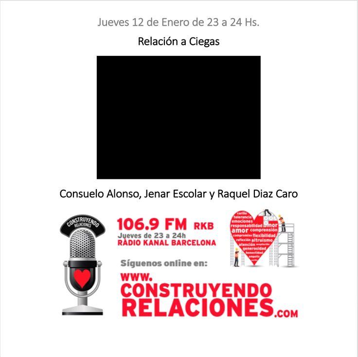 """Programa con Consuelo Alonso, Jenar Escolar y Raquel Diaz Caro, hablando sobre """"Relación a Ciegas""""."""