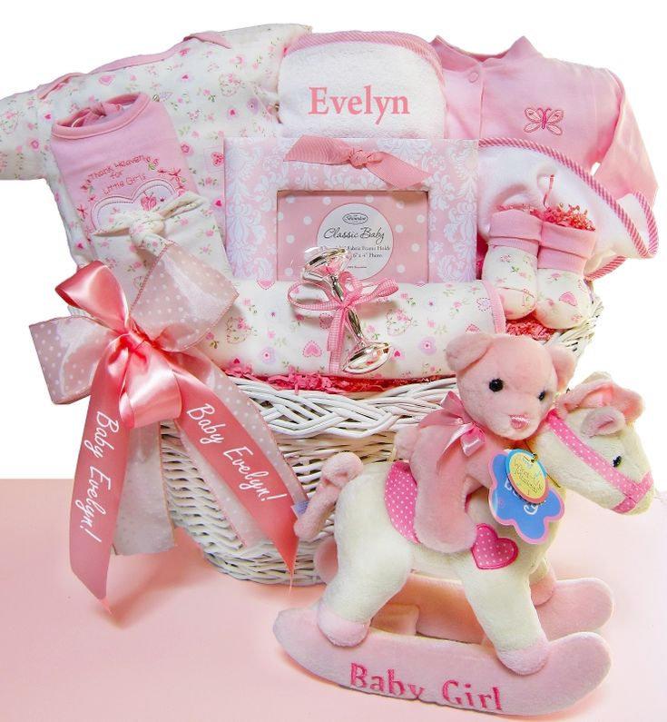 54 best personalized for girls images on pinterest knits baby personalized gift basket for girls negle Image collections