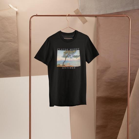 Antibes Claude Monet T Shirt Shirt Top Tee Graphic Etsy Claude Monet Aesthetic Shirts Top Shirt
