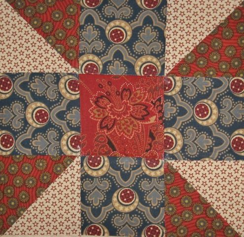 4 COLORS - 3X3 SQUARES - civil war quilt block - Google Search, love the colors