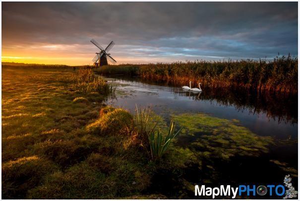Sunrise at Herringfleet Smock Mill in Suffolk