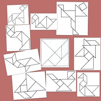 Desarrolla el sentido espacial de los niños con estos tangram