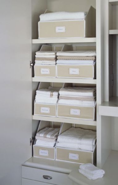 46 Best Images About Organize Linen Closets On Pinterest