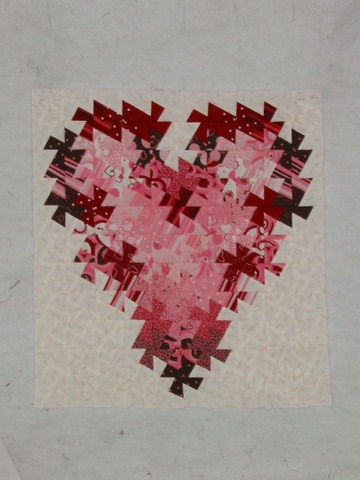 Twister Valentine Mini Quilt