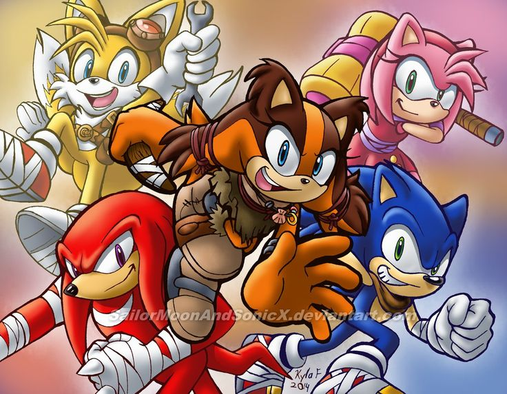 :.edit.:just made the image size bigger and I totally messed up Sticks' skirt! FFFFF but I'm still planning more fanart with her, Amy,Tails,Knuckles and Sonic soon!  I love how they're making...