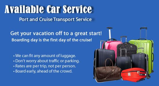 Too many bags! Less than a taxi for a limo driver to our cruise ship. Ft. Lauderdale airport pick up service. Towncar Service