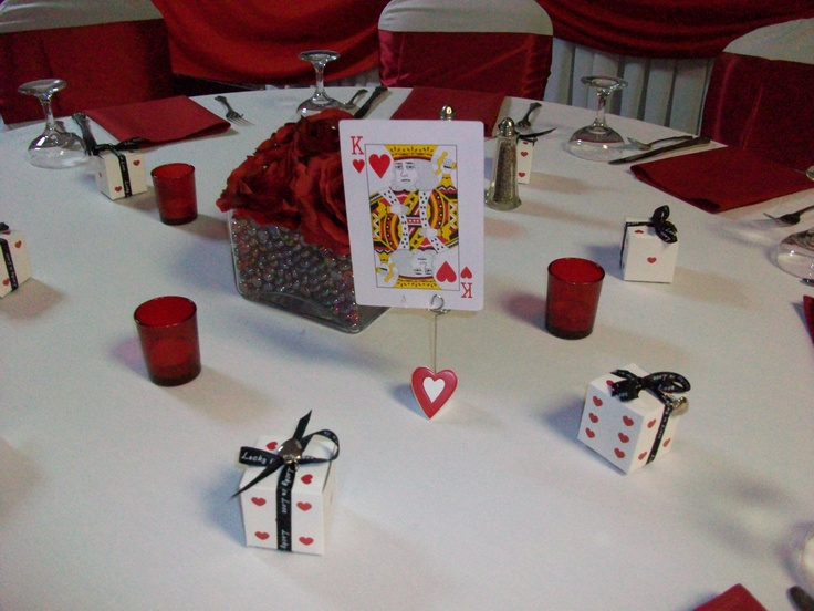 Playing Cards As Table Assignments Vegas Themed Wedding