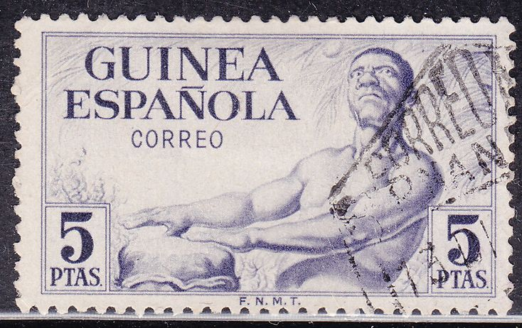 Spanish Guinea 323 USED 1952 Drummer - bidStart (item 35102323 in Stamps, Africa, Equatorial Guinea)