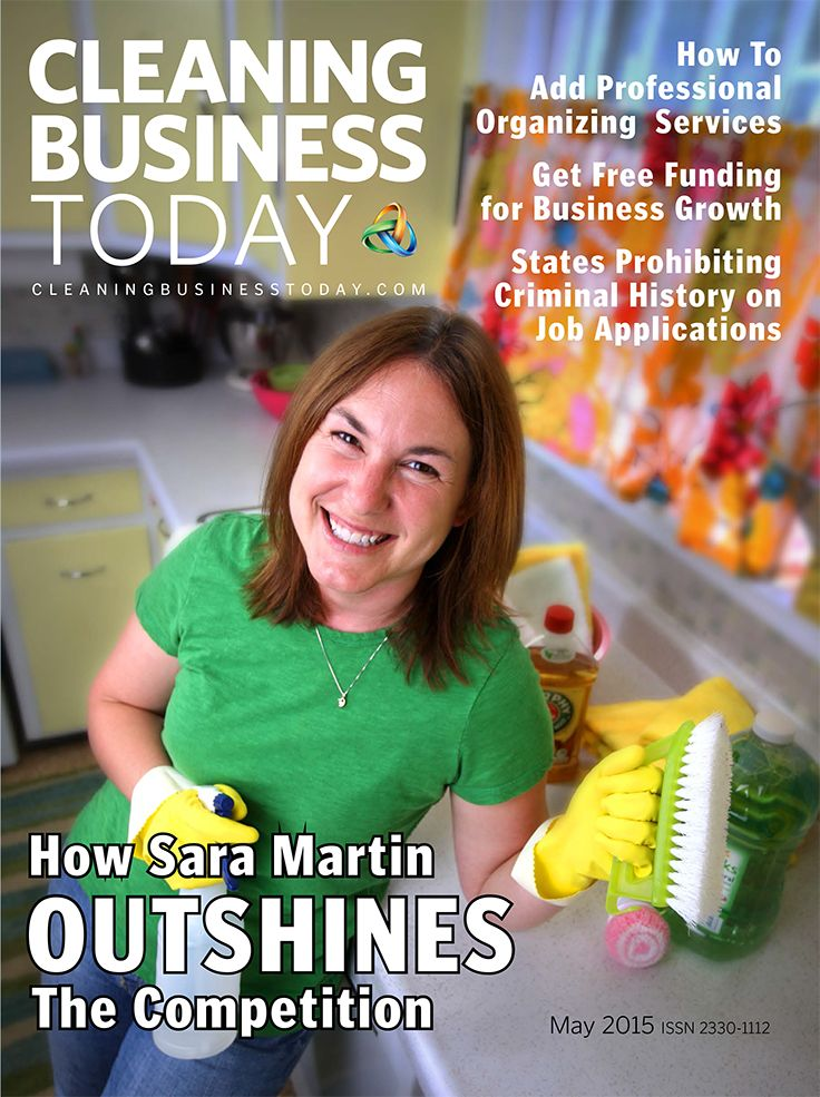 "The May 2015 issue of Cleaning Business Today takes an in-depth look at business growth, with articles on adding services, customer retention, and training of new employees. Our May cover features Sara Martin, whose company, phClean, has enjoyed exceptional growth and captured a dominant share of the market in her city.Read how she ""outshines the competition. Plus see our readers' picks of favorite cleaning products in the first round of our ""Best of"" Awards."