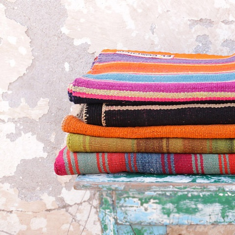 Bolivian Blankets. want one of these for the quad.