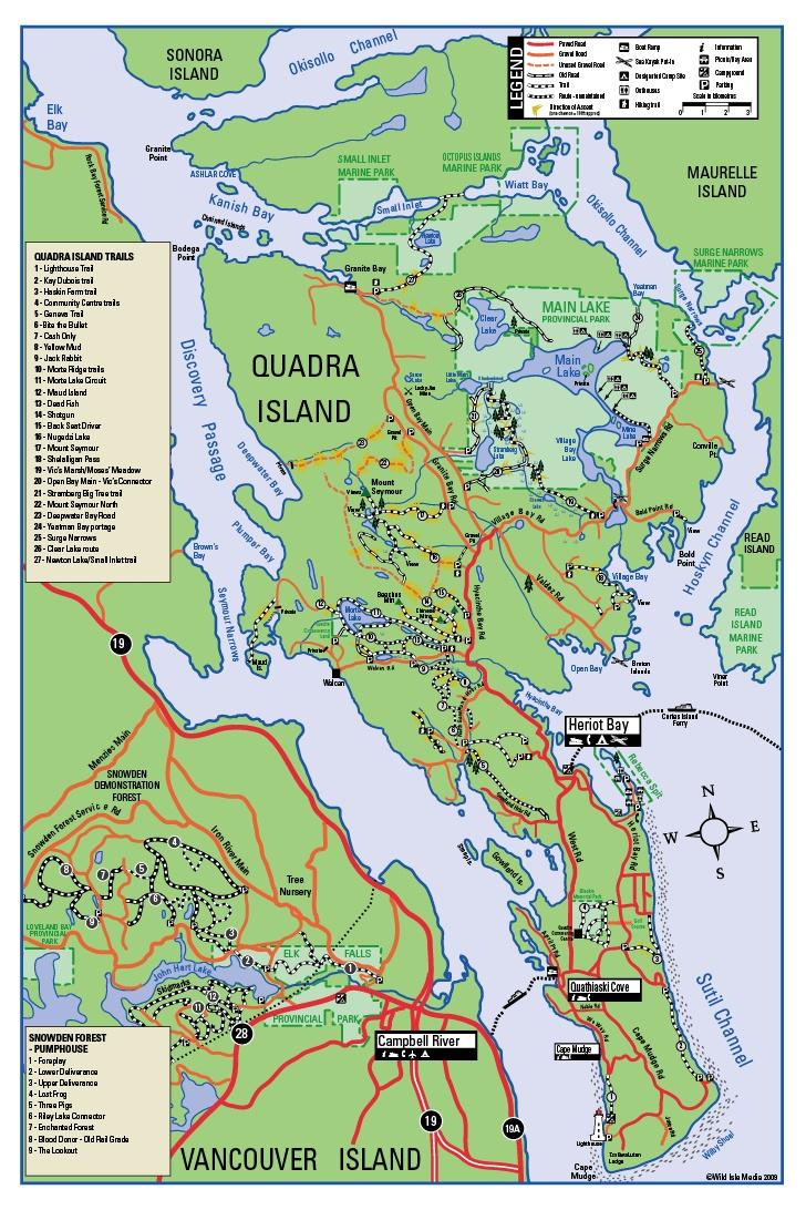 Quadra Island -Mountain Biking, Cycling, Bikes, Bicycles, single-track, downhill trails
