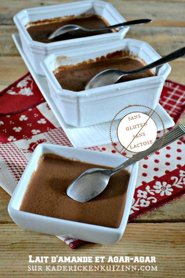 Petits flans - Recette sans gluten et sans lactose au chocolat, lait d'amande et agar-agar sur kaderickenkuizinn.com
