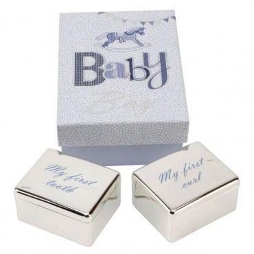 """Набор подарочный """"Коробочки для первого зубика и локона"""" для мальчика, Великобритания"""