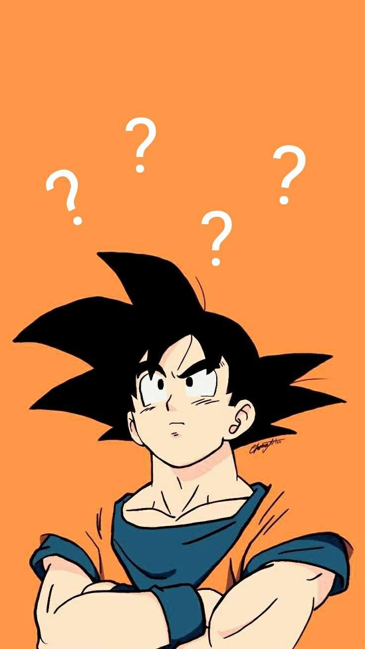 Confused Goku Anime Dragon Ball Super Dragon Ball Artwork Dragon Ball Painting