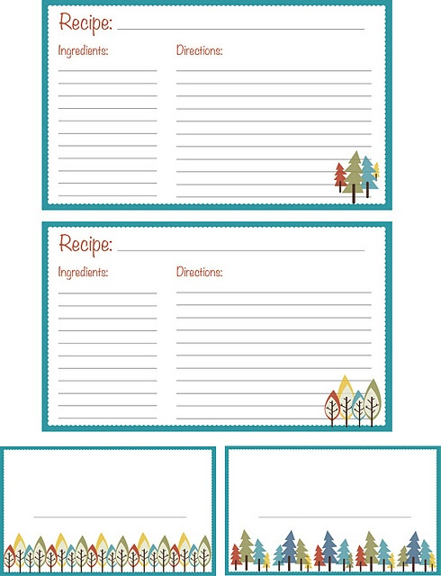 144 best Recipe Binders\/Cookbooks images on Pinterest Recipe - free recipe card template for word
