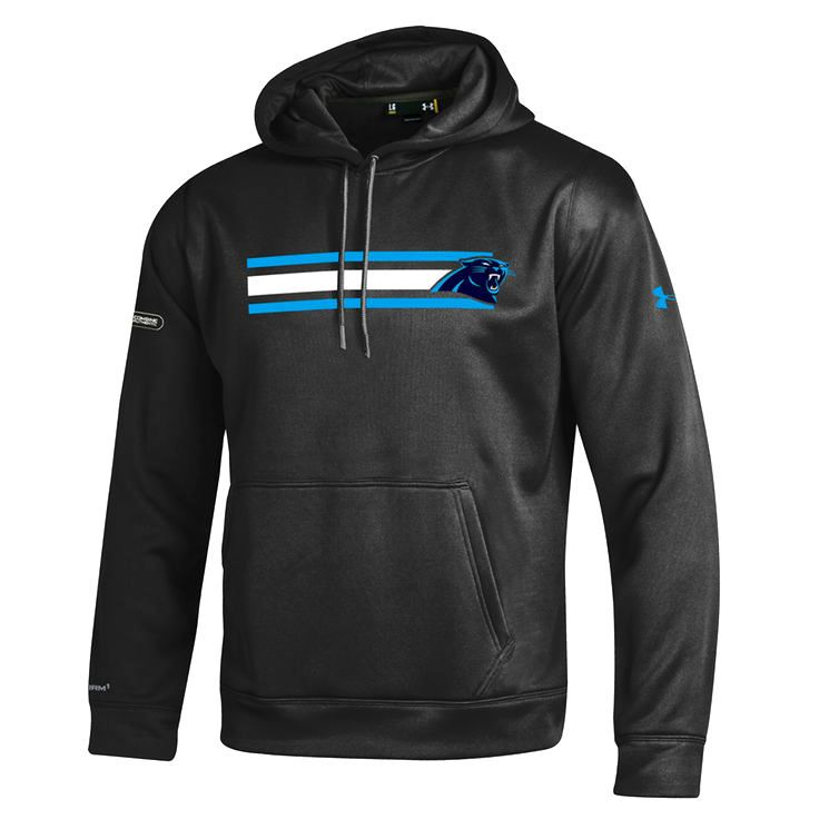 Carolina Panthers Under Armour NFL Combine Authentic Fleece Pullover Hoodie - Black - $74.99