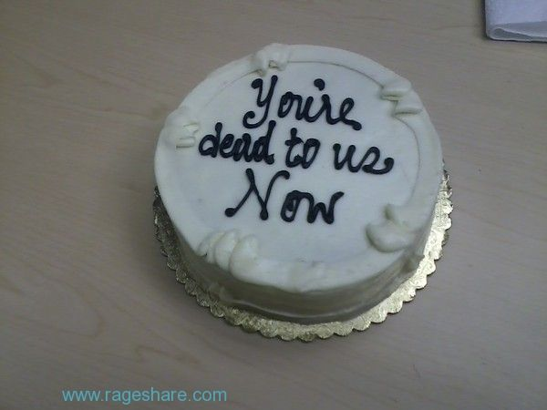 Funny Farewell Messages | My colleagues' farewell cake had this heartfelt message for me.