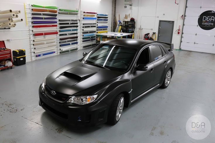 www.DA-CUSTOMS.com . 2012 Subaru WRX STI wrapped in Satin Black with custom company logo for Summit Fitness in Auburn, WA. . . Material: +Avery Dennis... - Dima Savchenko - Google+