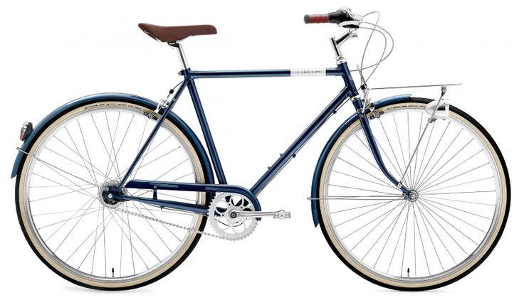 Creme Caferacer Solo Standardcykel Herr 7-speed blå