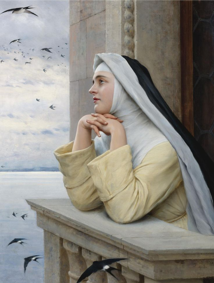 I love this! So beautiful. Nuns. Eugen Von Blaas (1843 - 1931) - God's creatures, 1913
