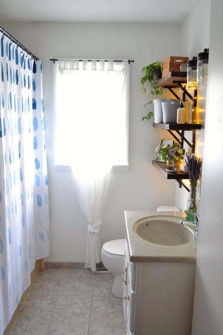 Best  Cheap Bathroom Makeover Ideas On Pinterest Wood Bathroom Shelves Making Floating Shelves And Floating Shelves Diy