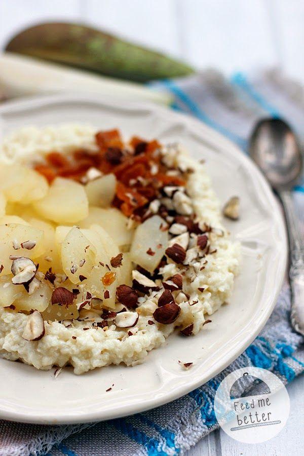 Feed Me Better: Płatki jaglane z gruszką w imbirze.