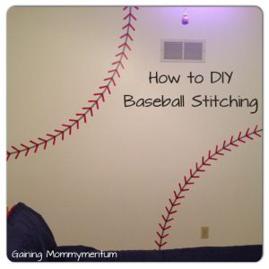 DIY Painted Baseball Stitching                                                                                                                                                                                 More