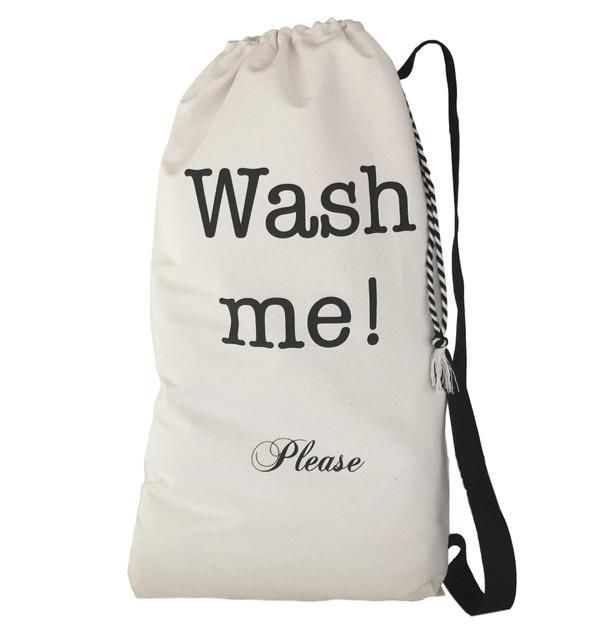 Nyc Wash Me Laundry Bag Canvas Laundry Bag Clothespin Bag Laundry