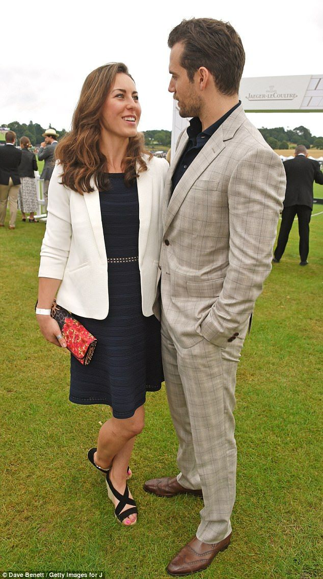 She's his kryptonite! Superman star Henry Cavill struggled to keep his eyes off new stuntwoman girlfriend Lucy Cork at the Jaeger-LeCoultre Gold Cup Polo Final at Cowdray Park on Sunday