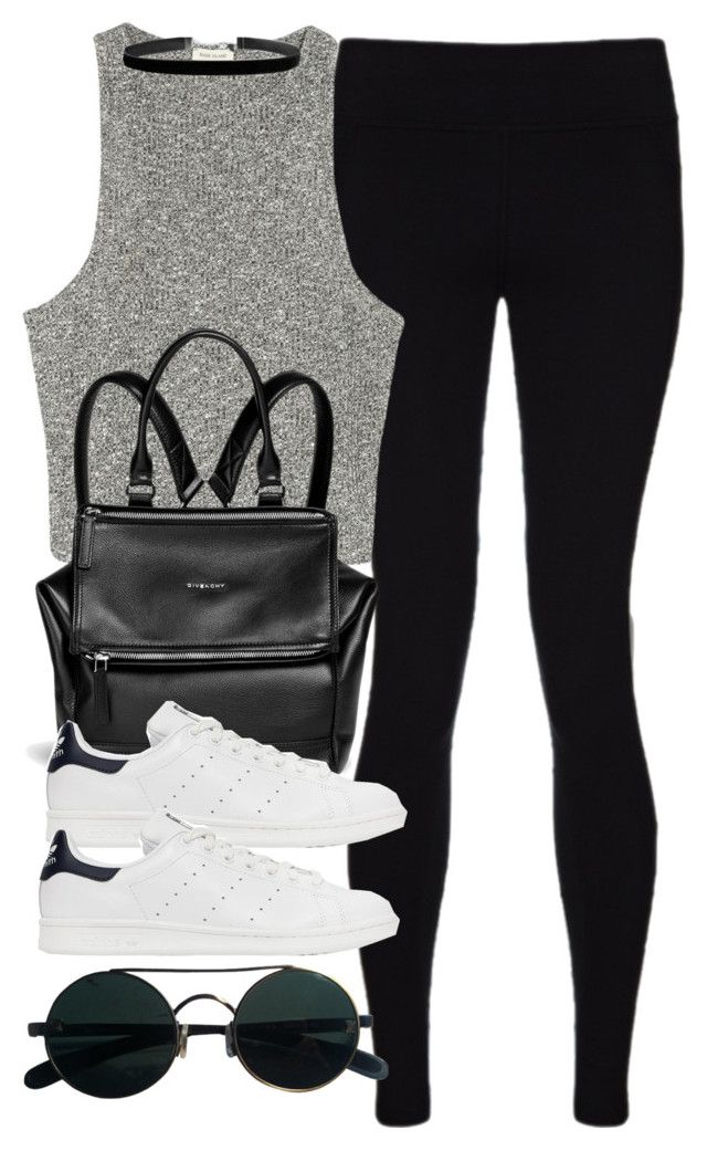 """Style #10842"" by vany-alvarado ❤ liked on Polyvore featuring Sweaty Betty, River Island, Givenchy and adidas Originals"