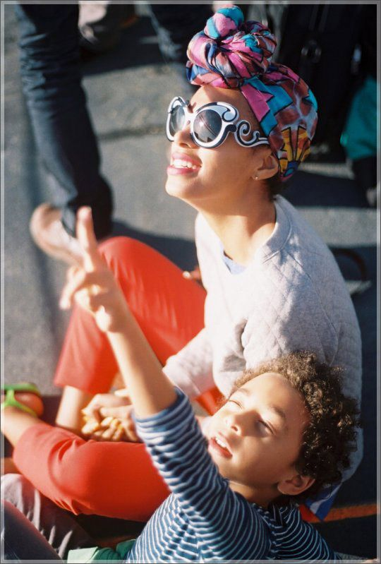 Solange Knowles and son